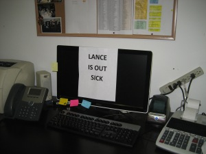 At his office, Lance is missed. He worked there for 30 years.