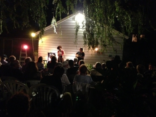 "The next night, it was ""Stories Under the Stars"" in the Encino backyard of writer Lila Silvern."