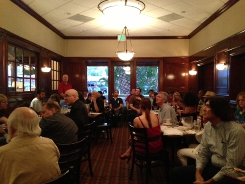 "Called ""The Table,"" this industry group for writers, screenwriters, actors, directors, producers, and everyone else in show biz has been meeting every Thursday night for 20 years. Now meets at Marie Callender's in Sherman Oaks."