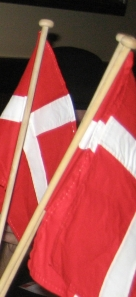 Danish flags brought to Lance by his Danish cousin for the birthday celebration