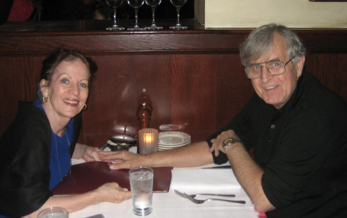 """Dinner together at the same favorite restaurant . This was our 27th wedding anniversary the year before. The 28th was spent in the hospital. I love this picture of Lance. It's so -- """"Lance."""""""
