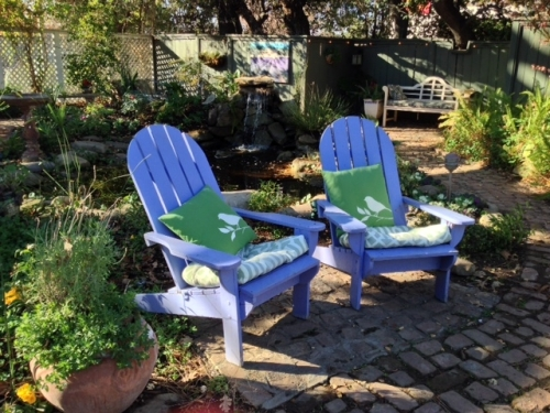 My favorite chairs - Adirondack chairs in all colors.