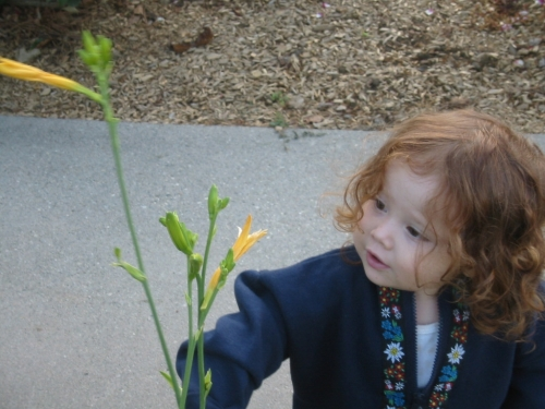 AWE -- This is one of my favorite photos of my granddaughter. It moves me.
