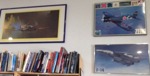 And his favorite section, military and aviation