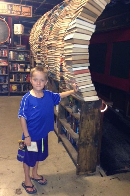 Lyle has just walked through the Tunnel of Books