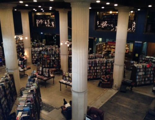 Once a bank, the Last Bookstore viewed from the second floor is truly awe-inspiring. A reader's paradise but perhaps a little depressing for writers -- with all these books, does the world need another?