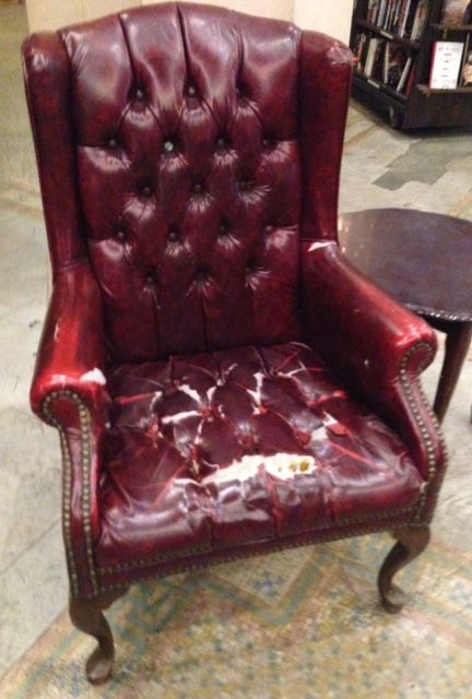 And, finally, curl up in this chair and read one of your purchases. Obviously, a few others have done so before you!