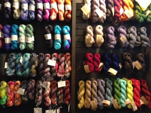 Stop in the yarn shop for a spot of color