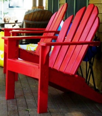 red adirandcak chair MF